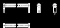 ROHRGRIFF, GERADE, SCHWARZ KU-BESCHICHT. 333.1-28-200-B-SW