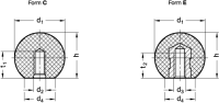 KUGELKNOPF, THERMOPLAST 319-KT-16-M4-C