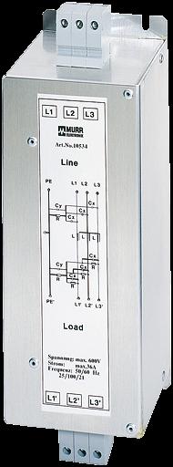 MEF Netzentstörfilter 3-phasig 1-stufig