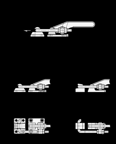 form 965-b  EDELSTAHL-VERSCHLUSS-SPANNER (SCHWERE AUSFÜHRUNG) von Otto Ganter  Herstellernummer: 11-11-T11-NI