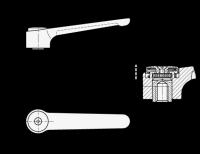 FLACHSPANNHEBEL, SILBER STRUKTURMATT 126-120-B10-SR