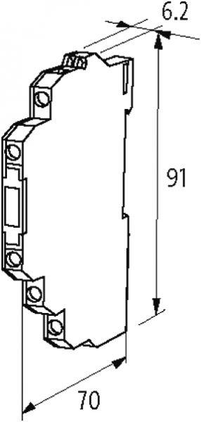 MIRO 6,2 Ausgangsrelais mit Kippschalter