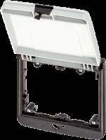 Modlink MSDD Einbaurahmen 2-fach grau 4000-68524-0000003