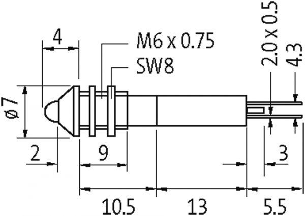 LED-Anzeigebaustein weiss