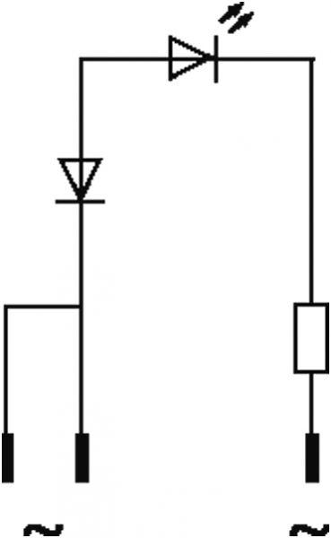 LED-Anzeigebaustein opac/ rot