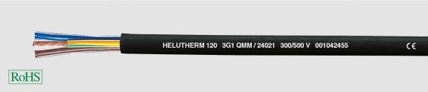 Wärmebeständige Leitung HELUTHERM® 120 2x1 mm² Schwarz