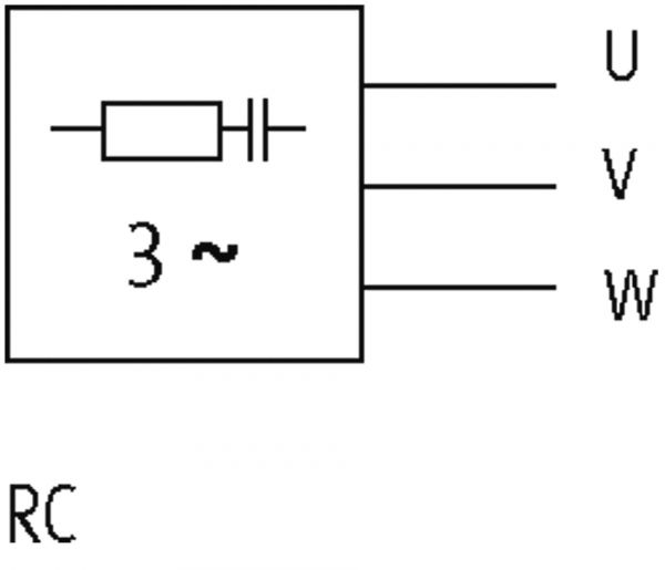 Motorentstörmodul zum Anschluß an Siemensschaltgerät S00,