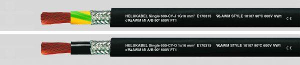 Aderleitung UL/CSA Single 600-CY 1x25 mm² (4 AWG) Schwarz