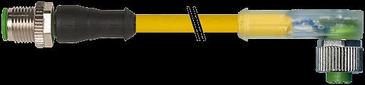 M12 St. 0° / M12 Bu. 90° LED