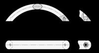 EDELSTAHL-BOGENGRIFF 565.9-20-160-A-MT