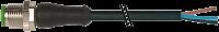M12 St. ger. mit freiem Leitungsende 3pol. V4A 7004-12001-6130150