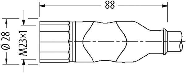 M23-Servoleitung