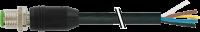 M12 St. ger. mit freiem Leitungsende 7000-19001-7050500
