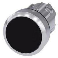 Drucktaster, 22mm, rund, schwarz, Druckknopf 3SU1050-0AB10-0AA0