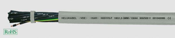 PVC-Steuerleitung H05VV5-F 4G0,75 mm² Grau