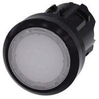 Drucktaster, beleuchtet, 22mm, rund, weiß, Druckknopf 3SU1001-0AB60-0AA0