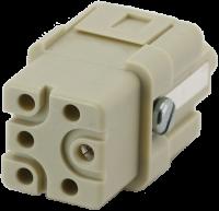 A3 Buchse 5-polig, Crimp, 400 V, 16 A 70MH-EB005-AC02020