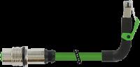 M12 Flanschbuchse D-cod. HWM / RJ45 St. 90° oben 7000-44867-7960030