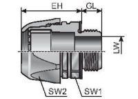 VG PG 16-K m-top Schlauchverschraubung, Kunststoff, gerade, grau 83511416