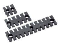 ZL 180/6 Zugentlastungsleiste, schwarz, DIN EN 45545-2 87701026