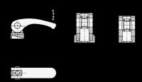 KUNSTSTOFF-EXZENTERSPANNER, ACHSE EDELSTAHL 926.1-63-M6-B