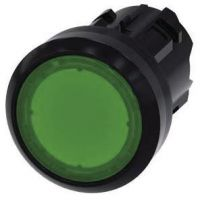 Drucktaster, beleuchtet, 22mm, rund, grün, Druckknopf 3SU1001-0AB40-0AA0