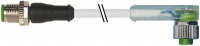 M12 St. ger. auf M12 Bu. gew. mit LED 7000-40341-2340750