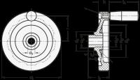 SCHEIBENHANDRAD MIT EDELSTAHL-BUCHSE 520.2-100-B10-A