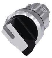 Knebelschalter, beleuchtbar, 22mm, rund, schwarz, weiß 3SU1052-2BF60-0AA0