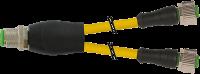 M12 St. Y-Verteiler / M12 Bu. 0° 7000-40701-0230030
