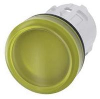 Leuchtmelder, 22mm, rund, gelb, Linse, glatt 3SU1001-6AA30-0AA0