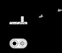 BEFESTIGUNGSPLATTEN-SET (2 PLATTEN/SCHRAUBEN) 181-ZD-10-M5-SR