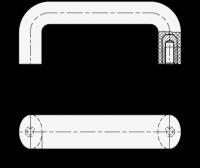 ELESA-BÜGELGRIFF, BLAU 625-117-BL
