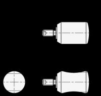 DREHBARER ZYLINDERKNOPF 595-13,5-M4-20-A