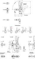 EDELSTAHL-VERTIKAL-SPANNER MIT ANDRÜCKSCHRAUBE 810.4-130-BLC-NI