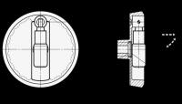 UMLEGGRIFF-SCHEIBENHANDRAD, SILBER-MATT BESCHICHT. 923.3-100-B10-R-SR
