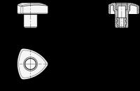 ELESA-DREIKANTGRIFF 5339-32-M5-OR