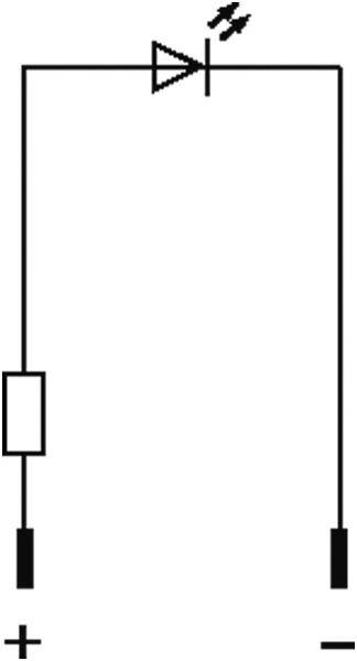 LED-Anzeigebaustein rot