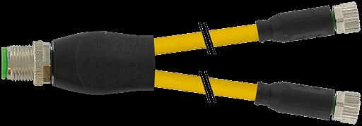 M12 Y-Verteiler auf M8 Bu. ger.