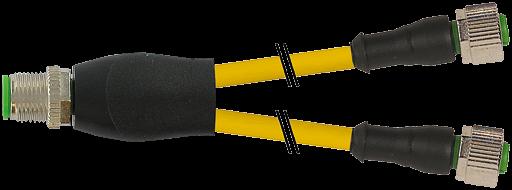 M12 St. Y-Verteiler / M12 Bu. 0°