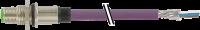 M12 Flanschstecker B codiert Hinterwand Profibus 7000-14131-8410100