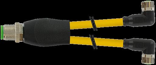 M12 Y-Verteiler auf M8 Bu. gew.