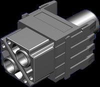 Power Buchsenmodul, 2-polig, Crimp 70MH-MAG2C-0020704