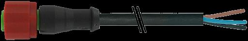 M12 230V Bu. ger.mit freiem Leitungsende 3p.C-Cod.