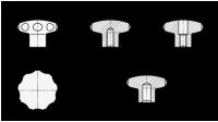 EDELSTAHL-STERNGRIFF (A4) 5335.4-40-M6-D