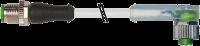 M12 St. ger. auf M12 Bu. gew. mit LED 7000-40321-2330100
