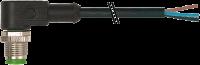 M12 St.gew mit freiem Leitungsende 3p.Dual-Keyway 7000-20031-6361000