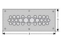 cablequick ® KDP 90/18 Kabeldurchführungsplatte, V4A 87663028