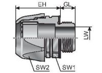 VG PG 16-K m-top Schlauchverschraubung, Kunststoff, gerade, schwarz 83511456