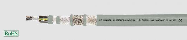 PUR-Schleppkettenleitung MULTIFLEX 512®-C-PUR 18G0,75 mm² Grau